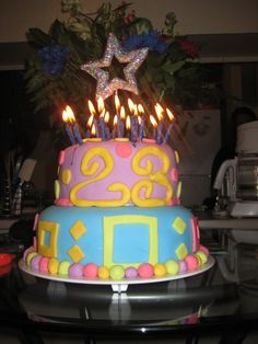 Martini polka dot black and hot pink 22 birthday cake pinterest 23 23rd birthday thecheapjerseys Images