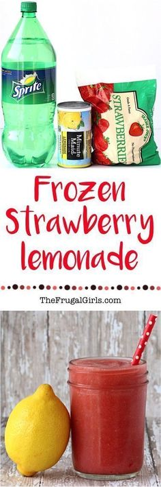 Strawberries are officially, hands down my FAVORITE fruit! They make for the perfect excuse to blend up this easy Frozen Strawberry Lemonade Recipe! This tasty treat is the perfect way to cool off on #makeupideaseasy