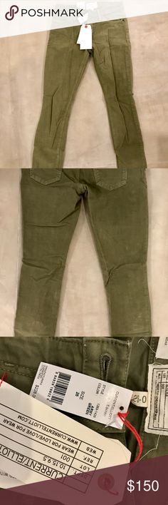 Current Elliot The Ankle Skinny NWT Current Elliot The Ankle Skinny Color: Army Green Size: 26 Current/Elliott Pants Skinny