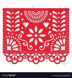 Papel Picado vector template design set, Mexican paper decorations flowers and geometric shapes, two party banners - Buy this stock vector and explore similar vectors at Adobe Stock Mexican Crafts, Mexican Folk Art, Design Set, Floral Design, Mexican Designs, Party Banners, Free Vector Graphics, Paper Decorations, Vector Design