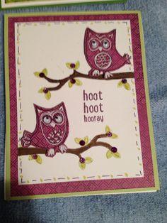 Birthday owl ctmh card