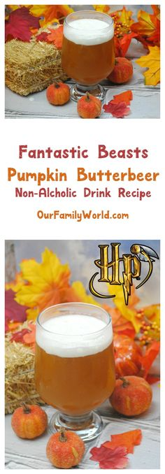 Make Your Own Butterbeer for Your Fantastic Beasts and Where to Find Them Party Planning a Fantastic Beasts and Where to Find Them Movie Party? Don't forget the nonalcoholic drinks, like our yummy pumpkin butterbeer! Perfect for a Harry Potter party too! Spring Cocktails, Winter Drinks, Holiday Drinks, Party Drinks, Summer Drinks, Holiday Desserts, Party Snacks, Drinks Alcohol Recipes, Non Alcoholic Drinks