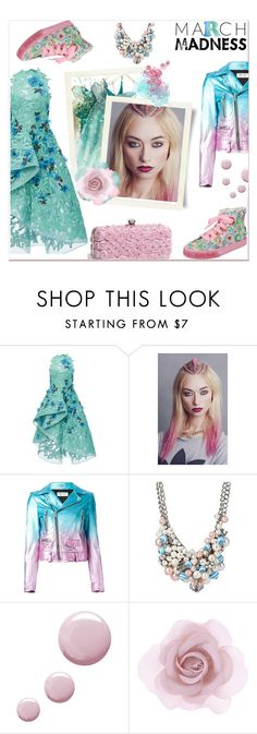 """""""March Madness: High Tops"""" by delucia ❤ liked on Polyvore featuring Monique Lhuillier, Givenchy, In Your Dreams, Yves Saint Laurent, Betsey Johnson, Topshop, Accessorize and marchmadness"""