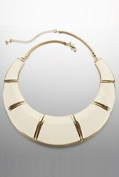 Limited Collection enamel collar necklace to dress up a casual outfit.