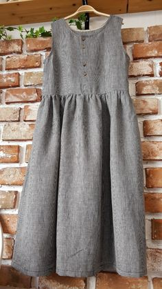 Linen Dresses, Cotton Dresses, Japanese Sewing Patterns, Simple Dresses, Skirt Outfits, Dream Dress, Skirt Fashion, Minimalist Fashion, Nightwear