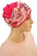 Hot Pink Gauze 2 Tone Head Wrap