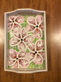 My mom's birthday present Mosaic Birdbath, Mosaic Tray, Mosaic Garden Art, Mosaic Animals, Mosaic Birds, Mosaic Flowers, Mosaic Crafts, Mosaic Projects, Stained Glass Projects