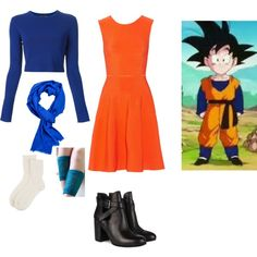 Dragon Ball Z: Goten Girly Clothes by lucy-wolf on Polyvore featuring Issa, Proenza Schouler and Johnstons of Elgin