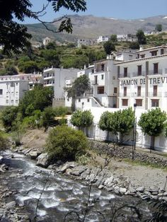 Trevélez is famous for its ham and for  for being the highest municipality in Spain.