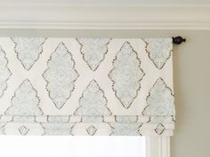 This sort of pattern would look gorgeous in playroom.something to coordinate with the doors Faux fake flat roman shade valance with by JaimeInteriors on Etsy Window Coverings, Window Treatments, Faux Roman Shades, Premier Prints, Valance Curtains, Drapery, Valance Ideas, Striped Curtains, Curtains Living