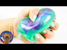 GALAXY antistresový míček - mega hezký sliz se super třpytkami - DIY nápad - YouTube