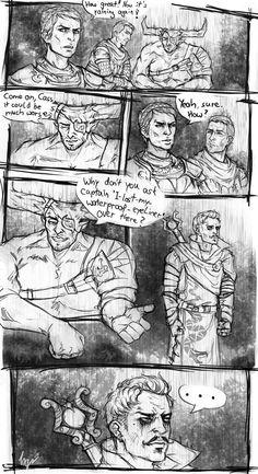 Iron bull Dorian Cassandra dragon age