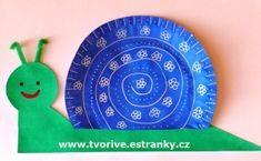 šneček z papírového talíře - paper plate snail Summer Camp Crafts, Camping Crafts, Fun Crafts For Kids, Spring Crafts, Projects For Kids, Diy For Kids, Activities For Kids, Kindergarten Crafts, Daycare Crafts