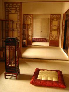The royal palace in Seoul, South Korea. Traditional Interior, Korean Traditional, Traditional Bedroom, Traditional House, Home Interior Design, Interior And Exterior, Royal Bedroom, Floor Sitting, Home History