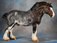 Brigitte Eberl Valentin resin painted by Stephanie Michaud. Horse Sculpture, Animal Sculptures, Appaloosa, Akhal Teke, Noriker Horse, Clydesdale Horses, Bryer Horses, Painted Pony, Toy Art