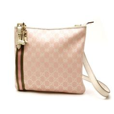 GUCCI GG Canvas Cross body bags Pink Canvas 144388