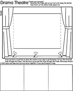 good for field trip follow up for little ones -- draw what you saw at the opera, ballet, or play