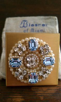 Vintage Compact Wiesner of Miami Jeweled Lipstick by thewildburro, $38.00