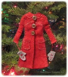 free felt ornament patterns | ... ornaments from the cute felt patterns she got from Posie Gets Cozy