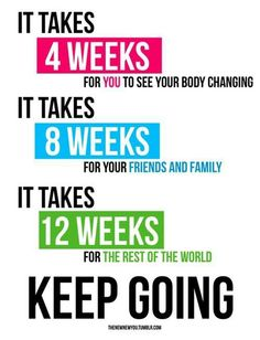 Go FAB Team Go!! This is so true and so many are discouraged, your body wont change overnight, give it time and work hard!