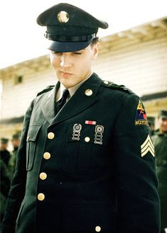 Elvis at his Army Base in Germany, 1960.