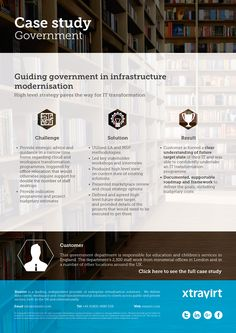 Case Study: Guiding government in infrastructure modernisation - High level strategy paves the way for IT transformation