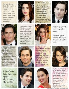 Matt Bomer and Emila Clarke with some of my favorite quotes from the series.