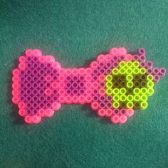 Skull Perler Bead Bow by MJistheBOMB on Etsy, $4.00