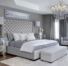 Decoração de quarto de casal cinza