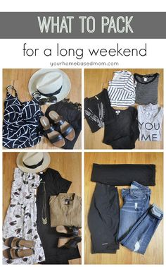 What to Pack for a Long Weekend - Travel Musts! Fashion, Trends and Tips - Weekend Weekend Trip Packing, Weekend Getaway Outfits, Weekend Outfit, Vacation Packing, Weekend Wear, Travel Packing, Weekend Getaways, Key West Outfits, Long Week-end