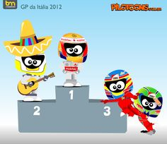 formula one cartoon images | Continental Circus: Formula 1 em Cartoons - GP de Itália (Pilotoons)