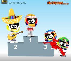 formula one cartoon images | Continental Circus: Formula 1 em Cartoons - GP de Itália (Pilotoons)
