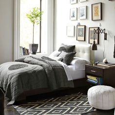 Love this West Elm rug...and bedroom...and everything