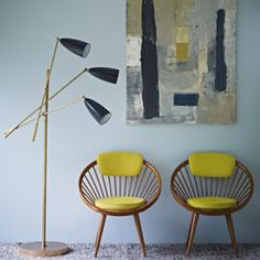 Mrs Peabod - A designers Inspiration board: Fired Earth Mid-Century Paint