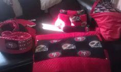 49ers crib bedding  etsy. khloebella's custom nursery desighns.