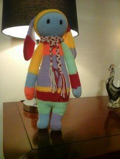 RITA the rabbit made by Mariska K. / crochet pattern by lalylala