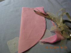 cuore di tessuto rosa