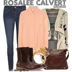 Grimm - Rosalee Calvert outfit - I think I'd replace the blouse with a turtleneck