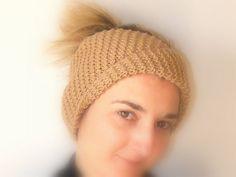 FREE SHIPPING  beige Knitted boho headbandHeadband by seno on Etsy, $18.00