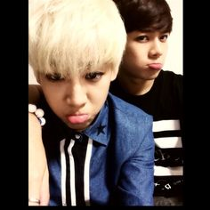 A pouty selca from Bambam and Jackson (Bambam's instagram)