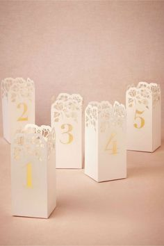 10 Creative Table Number Ideas