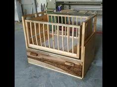 Bebek beşiği ahşap. Çekmeceli ( doğal ahşap) - YouTube