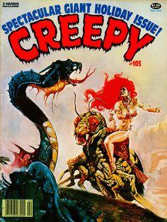 Creepy # 105 (February, 1979). Cover by Esteban Maroto.