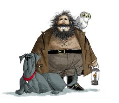 Sketchbook Hagrid + digital color. #hagrid #fang #hedwig #sketchbookart #kidlitart