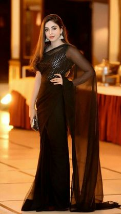 Celebrity Wearing Black Saree at a Wedding - Wedding Photographers UK Pakistani Celebrity Wearing Black Saree at a Wedding - Wedding Photographers UK Pakistani Fashion Party Wear, Pakistani Wedding Outfits, Pakistani Dress Design, Pakistani Dresses, Stylish Sarees, Stylish Dresses, Black Bridal Dresses, Saree Designs Party Wear, Fancy Sarees Party Wear