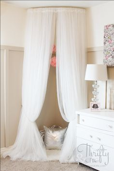 Though intended to a little girl, this makeshift reading nook is whimsical enough for us adults to want one, too.