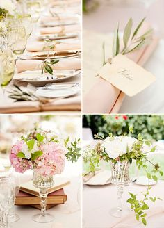 With fluffy blooms, vintage details, and a serene setting there's no denying the beauty of this special day created by Colin Cowie Celebrations.