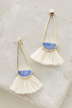 Ouvea Fringed Drops - anthropologie.com