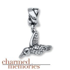 Charmed Memories Hummingbird Charm Sterling Silver