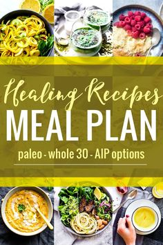 HEALING RECIPES to create your nourishing MEAL PLAN. This recipe round up is full of AIP friendly Paleo anti-inflammatory and/or Whole 30 compliant recipes for breakfast lunch dinner and more! Whole 30 Recipes, Whole Food Recipes, Diet Recipes, Recipes Dinner, Soup Recipes, Potato Recipes, Casserole Recipes, Crockpot Recipes, Breakfast Recipes